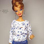 Куклы и игрушки ручной работы. Ярмарка Мастеров - ручная работа Джемпер и юбка  для Барби и  Fashion Royalty. Handmade.