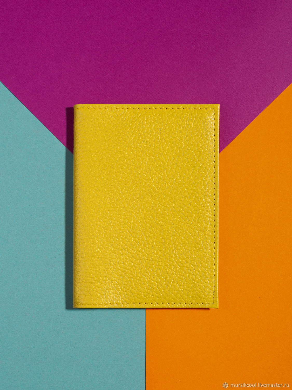 Passport cover 'Classic' Yellow, Cover, Moscow,  Фото №1