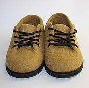 Обувь ручной работы. Ярмарка Мастеров - ручная работа Полуботинки женские валяные. Handmade.