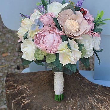 Свадебный салон ручной работы. Ярмарка Мастеров - ручная работа Свадебный букет, свадебный букет невесты, букет дублёр , фоамиран. Handmade.