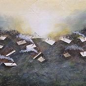 Картины и панно ручной работы. Ярмарка Мастеров - ручная работа Летела над крышами. Handmade.