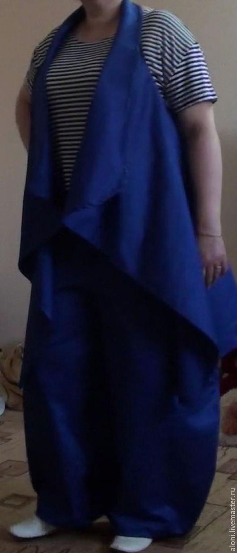 Костюмы ручной работы. Ярмарка Мастеров - ручная работа. Купить Брючный костюм Бохо. Handmade. Тёмно-синий, шаровары
