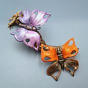 Украшения handmade. Livemaster - original item BUTTERFLY BROOCH from genuine leather. Handmade.