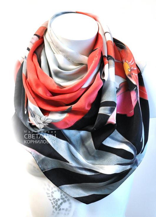"""Шарфы и шарфики ручной работы. Ярмарка Мастеров - ручная работа. Купить Шёлковый шарф """"Кармен"""". Handmade. Разноцветный, что подарить"""