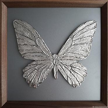 Картины и панно ручной работы. Ярмарка Мастеров - ручная работа Серебряная бабочка. Handmade.