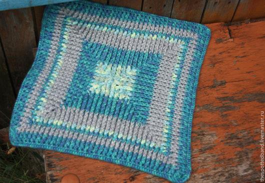 Текстиль, ковры ручной работы. Ярмарка Мастеров - ручная работа. Купить самоцвет. Handmade. Коврик вязаный, дачный интерьер