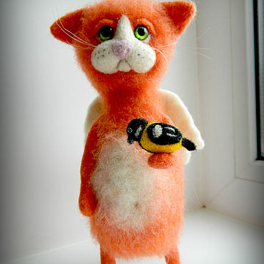 """Куклы и игрушки ручной работы. Ярмарка Мастеров - ручная работа Кот """"Рыжий ангел"""". Handmade."""