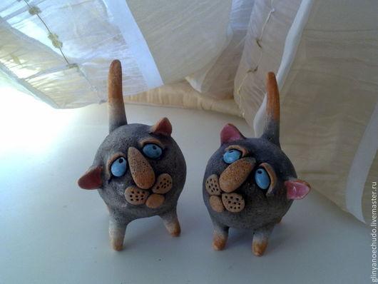 Статуэтки ручной работы. Ярмарка Мастеров - ручная работа. Купить кот-голубые глаза. Handmade. Кот, керамика ручной работы