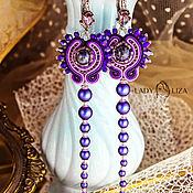 Украшения handmade. Livemaster - original item Earrings Starry sky Version 2. Soutache earrings. The embroidered decoration. Handmade.