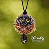 Украшения handmade. Livemaster - original item Owl brooches and pendants. Handmade.