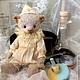 """Мишки Тедди ручной работы. Ярмарка Мастеров - ручная работа. Купить Мишка-мини """"Сумочная фея"""". Handmade. Бледно-сиреневый"""
