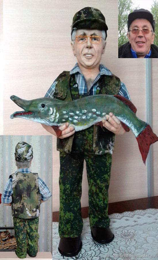 Мои рыбачки, Портретная кукла, Томилино,  Фото №1