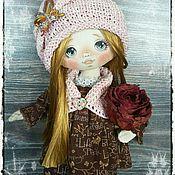 Куклы и игрушки ручной работы. Ярмарка Мастеров - ручная работа Куколка с розой. Handmade.