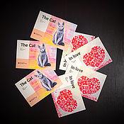 Открытки ручной работы. Ярмарка Мастеров - ручная работа Открытки: Набор из 10 авторских открыток с принтом работ м/х. Handmade.