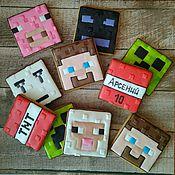 Пряники ручной работы. Ярмарка Мастеров - ручная работа Имбирное печенье Minecraft Майнкрафт. Handmade.