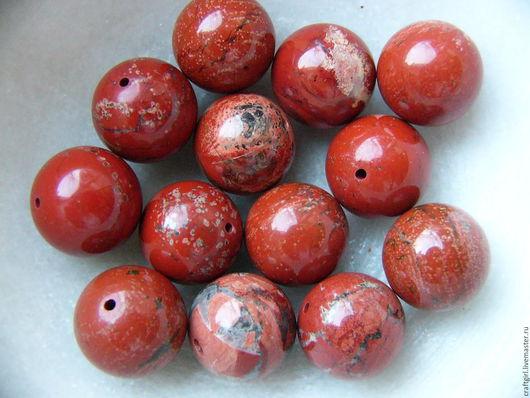 Для украшений ручной работы. Ярмарка Мастеров - ручная работа. Купить Яшма, Мадагаскар, 17 мм. Handmade. Ярко-красный