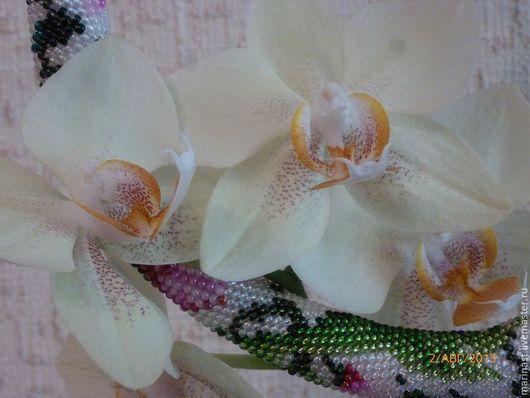 Колье, бусы ручной работы. Ярмарка Мастеров - ручная работа. Купить Викторианский сад вязаный жгут. Handmade. Розовый