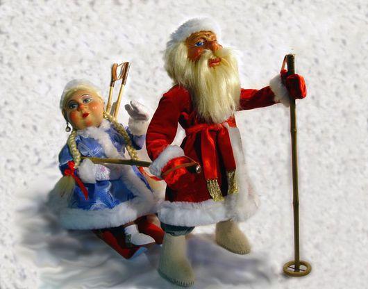 Коллекционные куклы ручной работы. Ярмарка Мастеров - ручная работа. Купить Авторские куклы Дед Мороз и Снегурочка. Handmade.