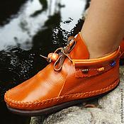 """Обувь ручной работы. Ярмарка Мастеров - ручная работа Стильные кожаные ботиночки """"Charmes"""". Handmade."""
