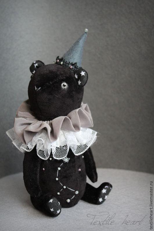 Мишки Тедди ручной работы. Ярмарка Мастеров - ручная работа. Купить Малая медведица.... Handmade. Черный, созвездие, серый, textileheart