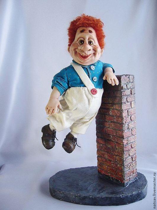 Коллекционные куклы ручной работы. Ярмарка Мастеров - ручная работа. Купить Карлсон (нашел дом). Handmade. Рыжий, сувениры и подарки