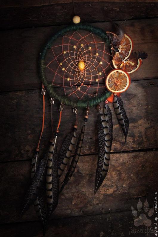 Ловцы снов ручной работы. Ярмарка Мастеров - ручная работа. Купить Ловец снов Английский апельсин, ловец снов лесной. Handmade.