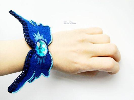 """Браслеты ручной работы. Ярмарка Мастеров - ручная работа. Купить Браслет """"Синяя Птица"""". Handmade. Разноцветный, синие браслет"""