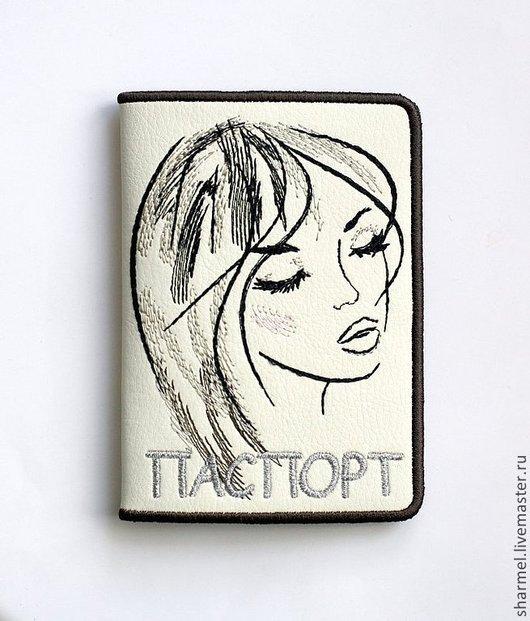 """Вышитая обложка  на паспорт """"Предвкушение"""". \r\nПолезные вещицы от Шармель-ки."""