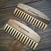 Сувениры и подарки ручной работы. Ярмарка Мастеров - ручная работа Большой плоский деревянный гребень 15 зубьев. Handmade.