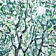 Пейзаж маслом на холсте Картина в подарок Купить картину для праздника Купить картину маслом пейзаж Яблоневый сад Картина маслом одуванчики