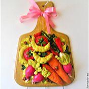 """Для дома и интерьера ручной работы. Ярмарка Мастеров - ручная работа Вешалка для полотенец """" Овощи"""". Handmade."""