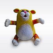 Куклы и игрушки ручной работы. Ярмарка Мастеров - ручная работа Войлочная фигурка — Солнечный котяра. Handmade.