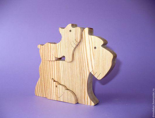 Игрушки животные, ручной работы. Ярмарка Мастеров - ручная работа. Купить пазлы собачки № 6. Handmade. Комбинированный, пазлы