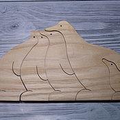 """Вальдорфские куклы и звери ручной работы. Ярмарка Мастеров - ручная работа Вальдорфские куклы и звери: """" Семья пингвинов"""". Handmade."""