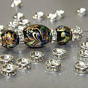 Материалы для творчества handmade. Livemaster - original item Beads dividers 7h3 mm rel. 2 mm with rhinestones. ( CIRCUS). Handmade.