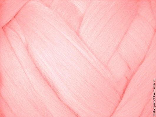Валяние ручной работы. Ярмарка Мастеров - ручная работа. Купить Шерсть для валяния меринос 18 микрон цвет Пудра (Powder). Handmade.