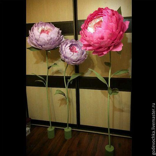 Свадебные цветы ручной работы. Ярмарка Мастеров - ручная работа. Купить Гигантские пионы розы. Handmade. Бледно-сиреневый