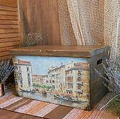 """""""О,Венеция,сказочный город!"""" ларь из дерева"""