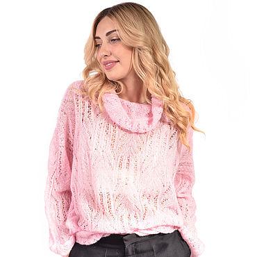 Одежда ручной работы. Ярмарка Мастеров - ручная работа Ажурный свитер из итальянского кид-мохера. Handmade.