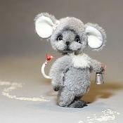 Куклы и игрушки ручной работы. Ярмарка Мастеров - ручная работа Мышка тедди. Мариша.. Handmade.