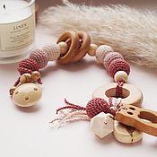 Работы для детей, handmade. Livemaster - original item Rodent, the first toy of the baby, a gift to the newborn. Handmade.