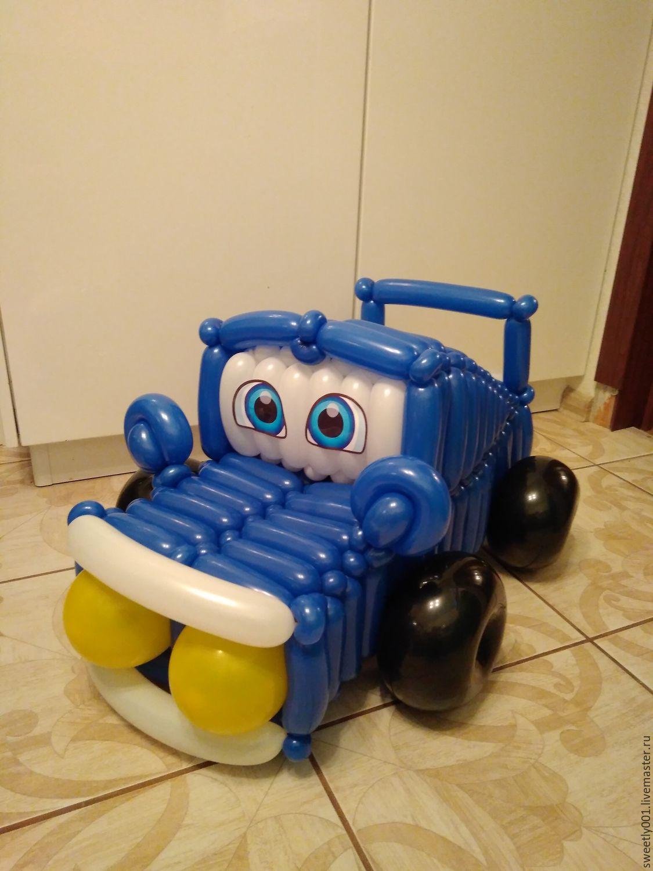 Машинка из шаров своими руками фото 910