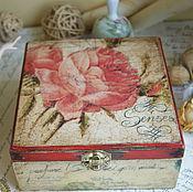 Для дома и интерьера ручной работы. Ярмарка Мастеров - ручная работа Роза на старом письме. Шкатулка. Handmade.