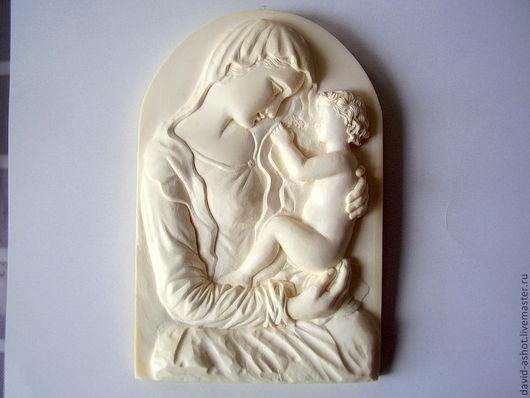 Иконы ручной работы. Ярмарка Мастеров - ручная работа. Купить Скульптура настенная миниатюрная из одного куска слоновой кости. Handmade.