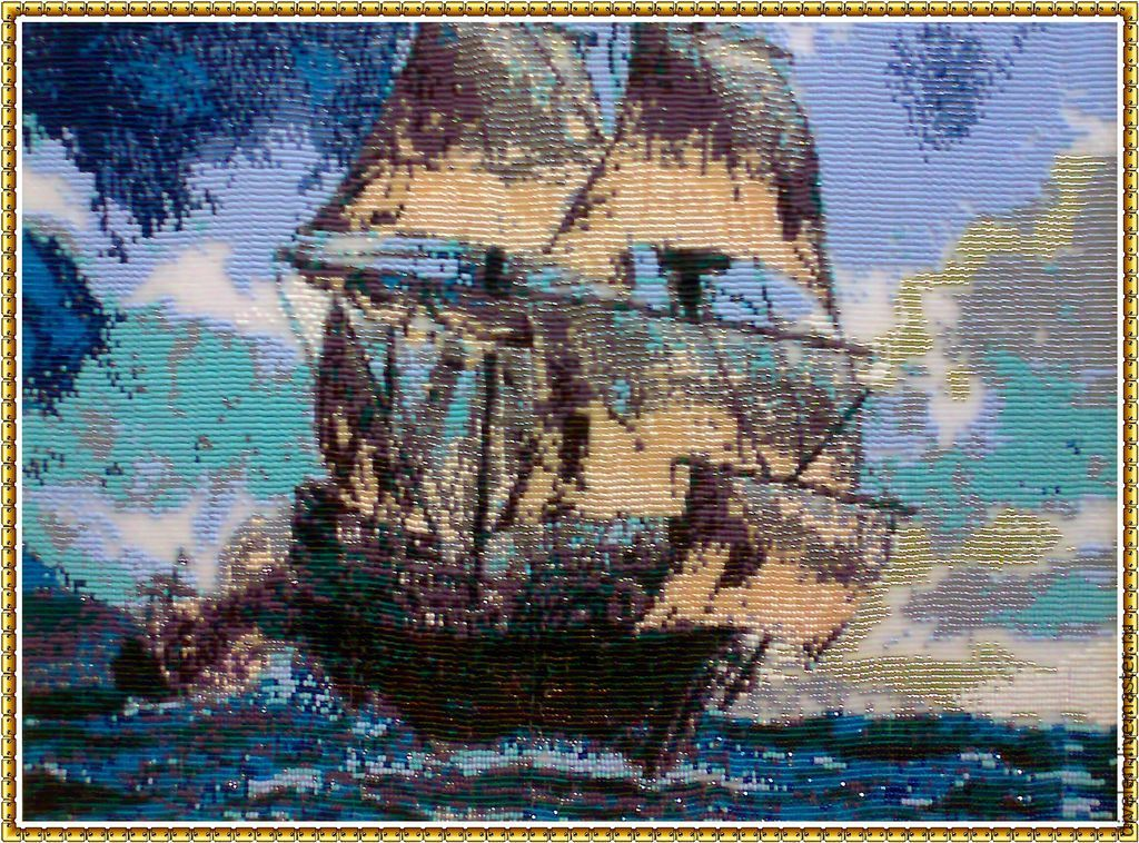 Tapestry beaded. Caribbean, Pictures, Divnogorsk,  Фото №1