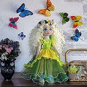 Куклы и игрушки handmade. Livemaster - original item boudoir doll: Textile interior doll a blue-Eyed Daisy.. Handmade.
