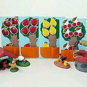 Куклы и игрушки ручной работы. Ярмарка Мастеров - ручная работа Набор деревьев с фруктами (на липучках). Handmade.