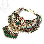 Украшения handmade. Livemaster - original item Egyptian style scarab necklace with agate and carnelian. Handmade.