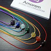 handmade. Livemaster - original item Necklace on a thread for 1, 2, 3, 4, 5, 6, 7 chakras with stones. Handmade.
