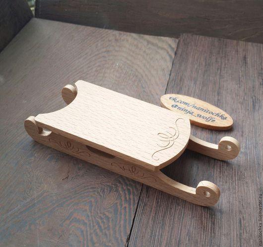 Детская ручной работы. Ярмарка Мастеров - ручная работа. Купить Санки миниатюрные. Handmade. Оранжевый, миниатюра
